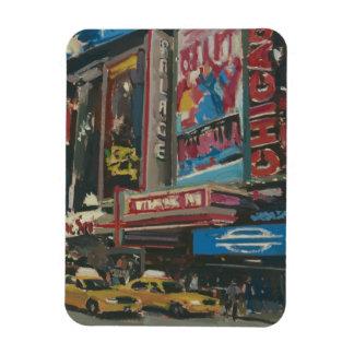 Times Square brilhante 2012 das luzes Foto Com Ímã Retangular