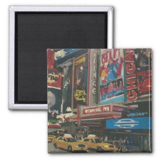 Times Square brilhante 2012 das luzes Ímã Quadrado
