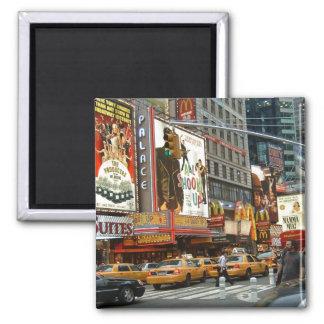 Times Square NY Ímã Quadrado