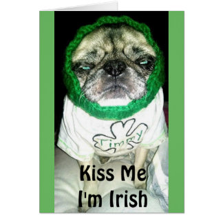"""Timmy """"beija-me que eu sou"""" cartão irlandês"""