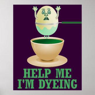 Tingidura engraçada do ovo da páscoa poster