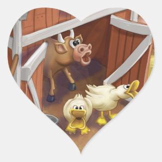 Tinir do tinir poucas etiquetas altas da fazenda adesivo coração