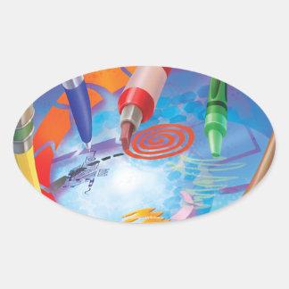 Tinir do tinir poucas etiquetas da imaginação do adesivo oval