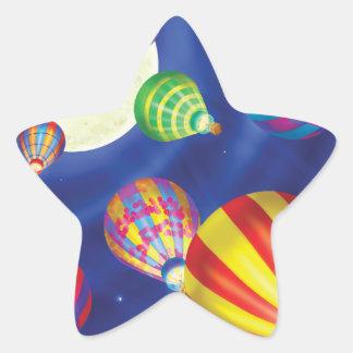 Tinir do tinir poucas etiquetas do balão do gnomo adesito estrela