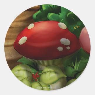 Tinir do tinir poucas etiquetas do cogumelo do adesivo