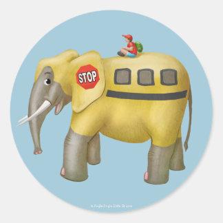 Tinir do tinir poucas etiquetas do elefante do adesivo