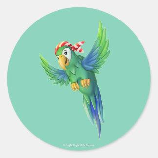 Tinir do tinir poucas etiquetas do papagaio do adesivo