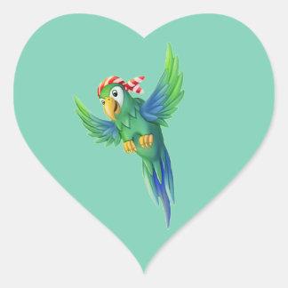 Tinir do tinir poucas etiquetas do papagaio do adesivo coração