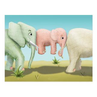 Tinir do tinir pouco cartão dos elefantes do gnomo