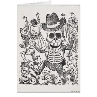 Tinta do crânio que tira o cartão do Dia das