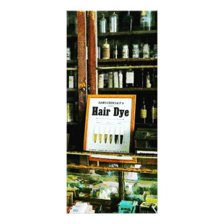 Tintura de cabelo panfletos informativos