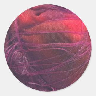 Tintura do laço adesivo em formato redondo