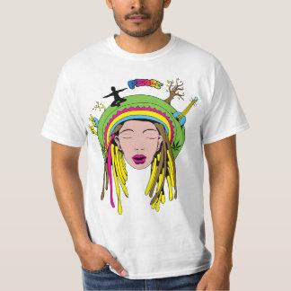 Tintura do laço da menina do Hippie do ~ 60s do T-shirts