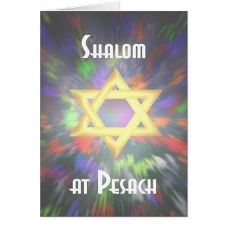 Tintura do laço de Shalom em Pesach Cartão Comemorativo