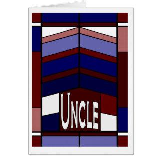 Tio - amor da vida brilha completamente - feliz cartão comemorativo