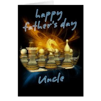 Tio - cartão do dia dos pais - xadrez