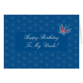Tio Cartão do feliz aniversario do teste padrão do