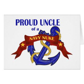 Tio de umas armas nucleares do marinho cartões