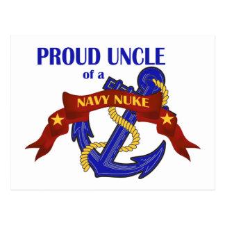 Tio de umas armas nucleares do marinho cartão postal