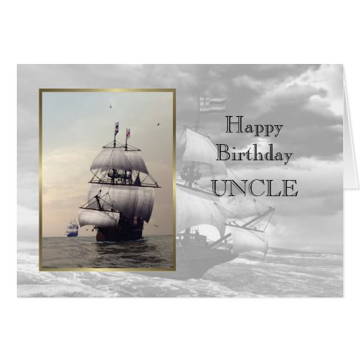 Tio do feliz aniversario cartão