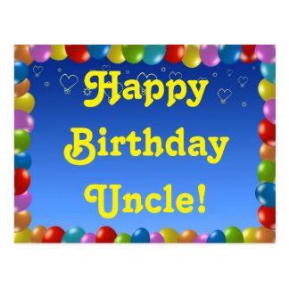 Tio do feliz aniversario do cartão