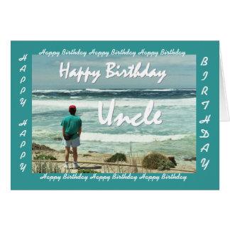 TIO - feliz aniversario - ondas do homem e de Cartão Comemorativo