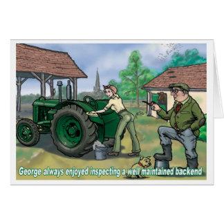 Tio George 3 do cartão do trator