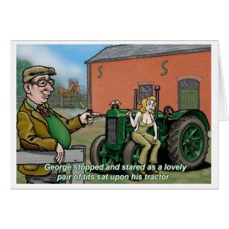 Tio George do cartão do trator