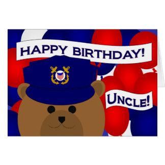 Tio - guarda da costa do feliz aniversario! cartão comemorativo