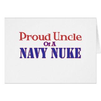 Tio orgulhoso de umas armas nucleares do marinho cartão comemorativo