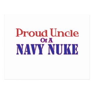 Tio orgulhoso de umas armas nucleares do marinho cartoes postais