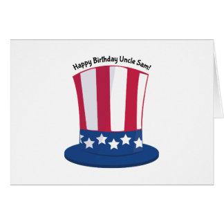 Tio Sam do feliz aniversario! Cartão Comemorativo