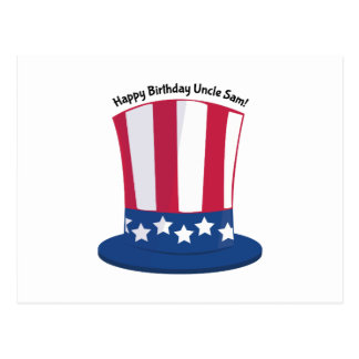 Tio Sam do feliz aniversario! Cartão Postal
