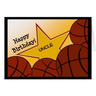 Tio - tio Loving do basquetebol do feliz Cartão Comemorativo
