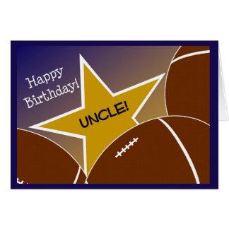 Tio - tio Loving do futebol do feliz aniversario! Cartão Comemorativo