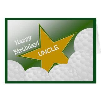 Tio - tio Loving do golfe do feliz aniversario! Cartão Comemorativo