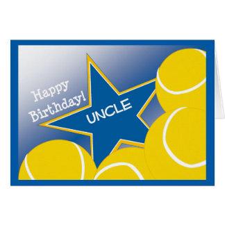 Tio - tio Loving do tênis do feliz aniversario! Cartão Comemorativo