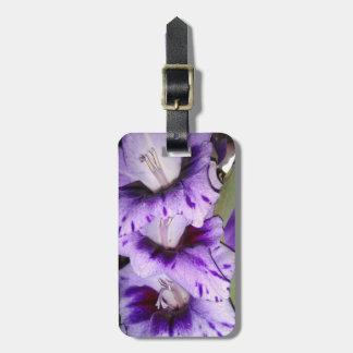 Tipo de flor roxo Flolwers Etiqueta De Bagagem