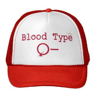 Tipo de sangue negativo de O Boné