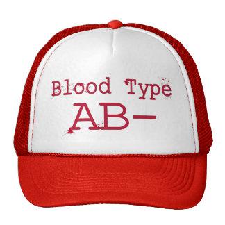 Tipo de sangue negativo do AB Boné