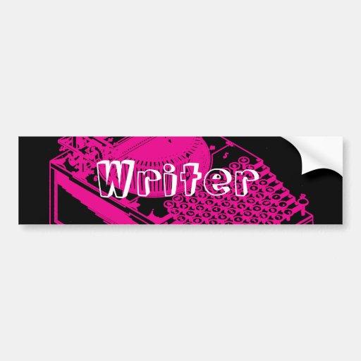Tipo magenta máquina da escrita adesivo