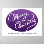 Tipo moderno roxo de Swirly do Natal do negócio Poster
