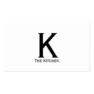 Tipo monograma do Serif (variação) Cartão De Visita
