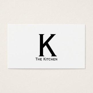Tipo monograma do Serif (variação) Cartão De Visitas