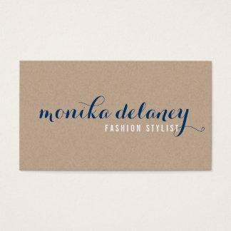 TIPO SIMPLES kraft na moda à moda do ROTEIRO azul Cartão De Visitas