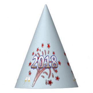 Tipografia 2018 branca vermelha do azul do chapéu