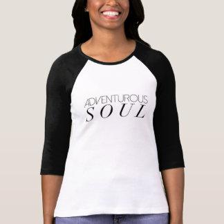 Tipografia aventurosa chique da alma | camiseta