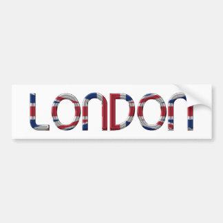 Tipografia britânica da bandeira de Londres Union Adesivo Para Carro