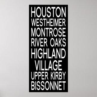 Tipografia de Houston   Pôster