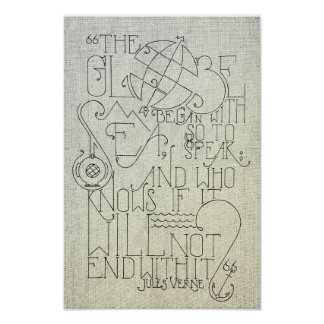 Tipografia de Jules Verne Pôster